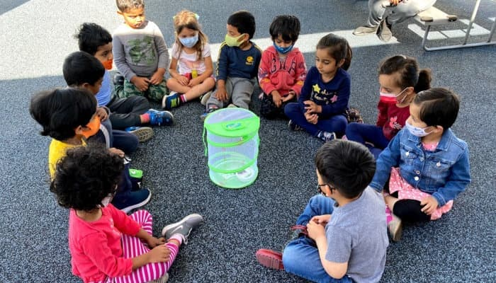 children forming a circle