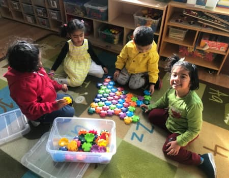 group of kids playing